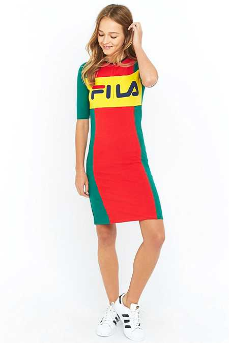 Fila Colour Blocked Bodycon Midi Dress