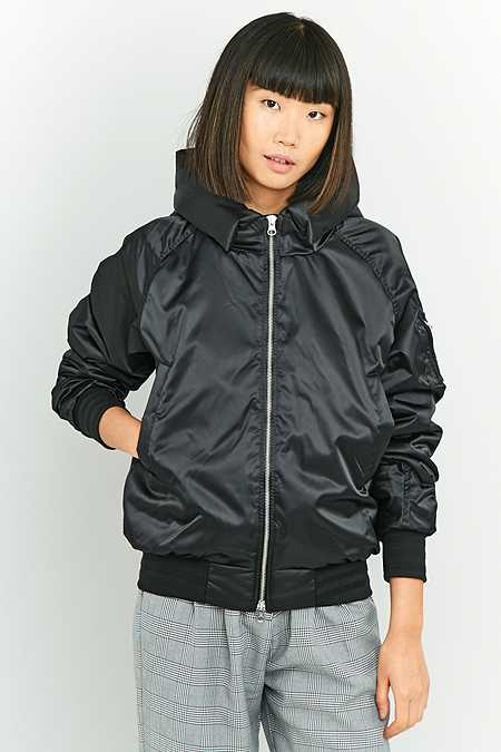 adidas EQT Black Hooded Bomber Jacket