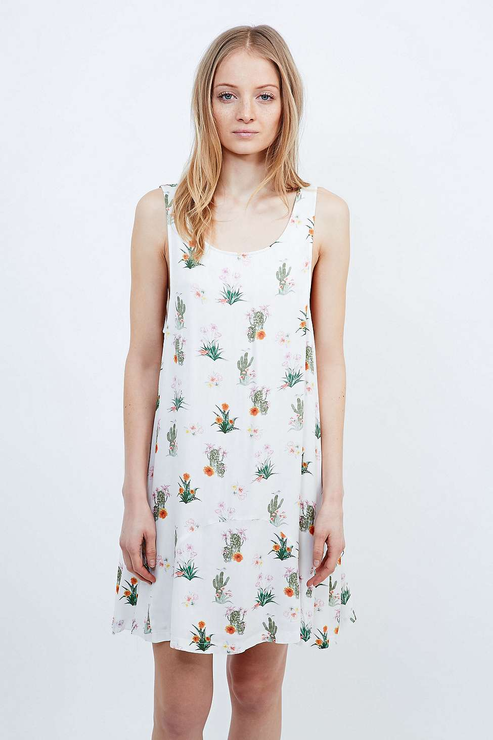 How Sweet Cactus Dress in White £45 by Somedays Lovin' from Urban Outfitters