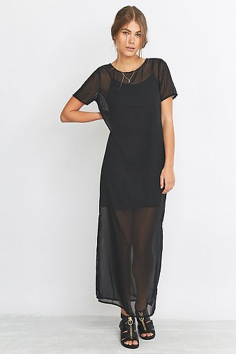 Noisy May Graph Black Maxi Dress - Urban Outfitters