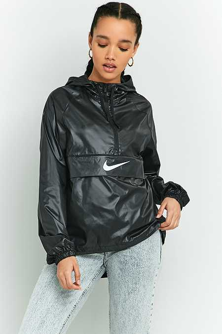 Nike Swoosh Black Half-Zip Windbreaker
