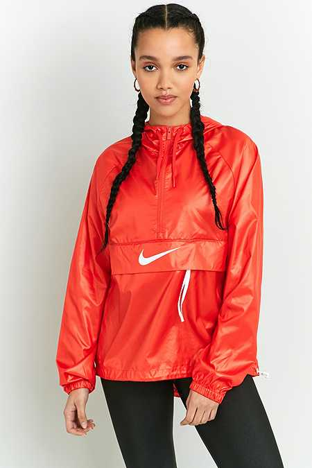 Nike Swoosh Red Half-Zip Windbreaker