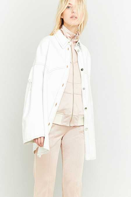 MM6 Super Bleached White Button-Up Jacket