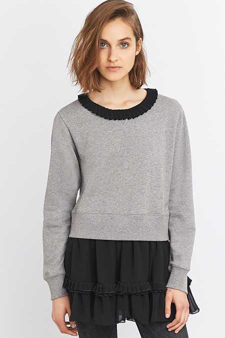 MM6 Black Sweatshirt Layer Top