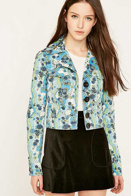 Manoush '70s Green Floral Jacket
