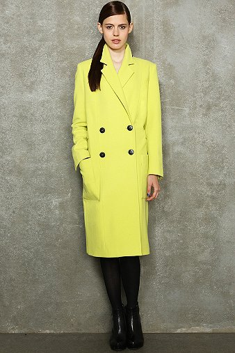 HACKNEY COAT ACID YELLOW