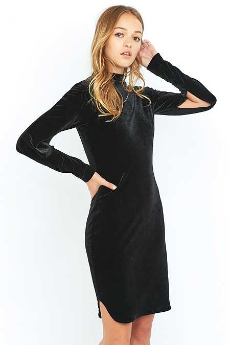 Cheap Monday Chant Black Velvet Slit Dress