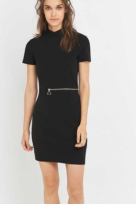 Cheap Monday - Mini-robe Ace zippée noire