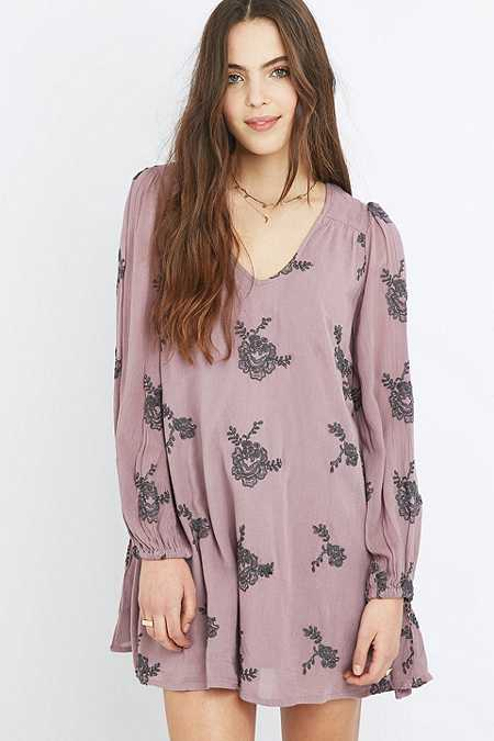 Free People Emma Embroidered Floral Dress
