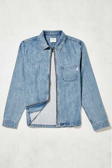 Shore Leave by Urban Outfitters Blake Denim Zip-Through Overshirt