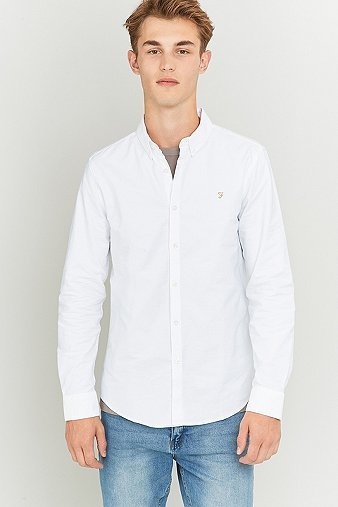 Farah Vintage Oxford Shirt in White