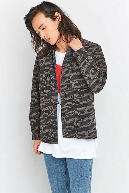 Shore Leave by Urban Outfitters Camo BDU Shirt Jacket