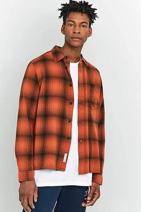 Shore Leave by Urban Outfitters Barney Orange Check Shirt