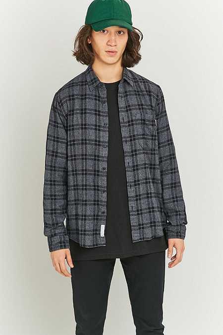 Shore Leave by Urban Outfitters - Chemise grise à carreaux ton sur ton