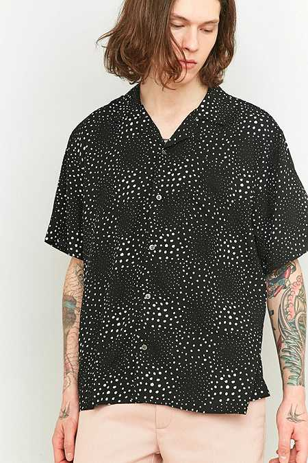 Loom Black and White Spot Reverse Shirt