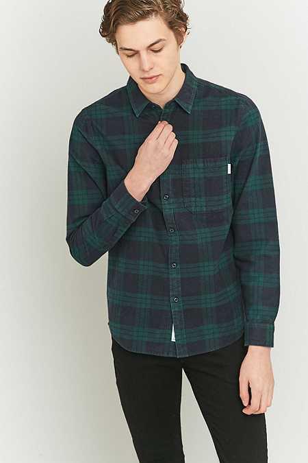 Shore Leave by Urban Outfitters - Chemise à carreaux bleu marine et verte
