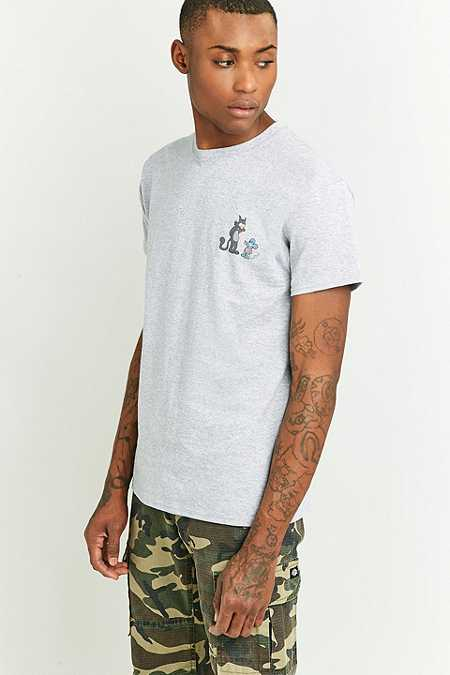 T-shirt Itchy & Scratchy gris