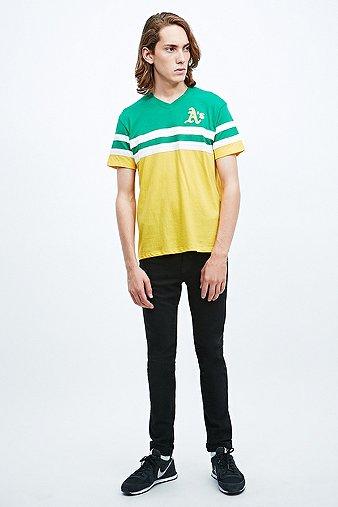 47 Brand - T-shirt Oakland Athletics vert et jaune