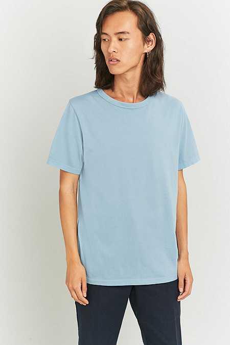 UO - T-shirt ras du cou teint bleu clair