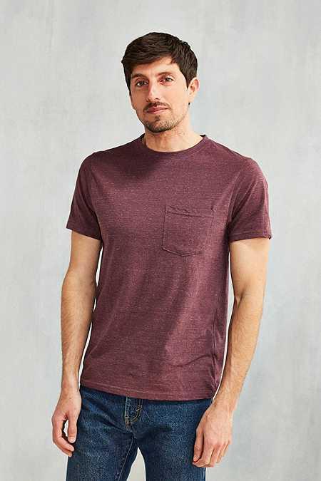 UO - T-shirt Galaxy avec poche prune
