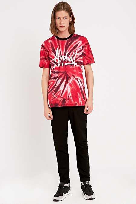 Asphalt Yacht Club - T-shirt Starburst tie-dye rouge