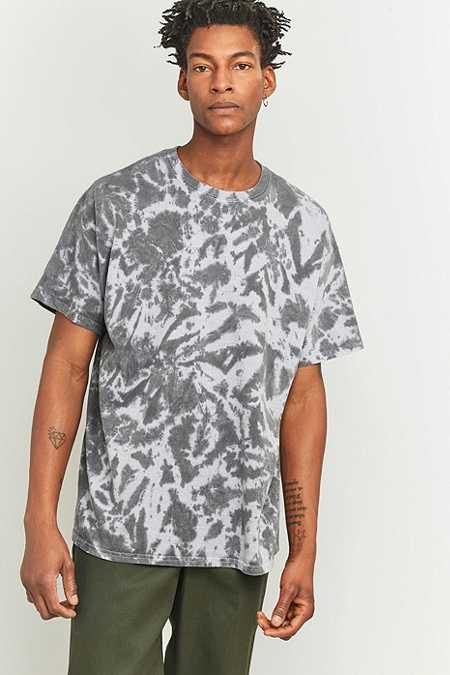 UO - T-shirt oversize gris effet tie-dye