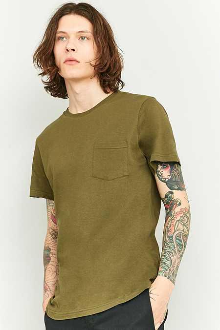 Urban Outfitters - T-shirt basique à une poche kaki