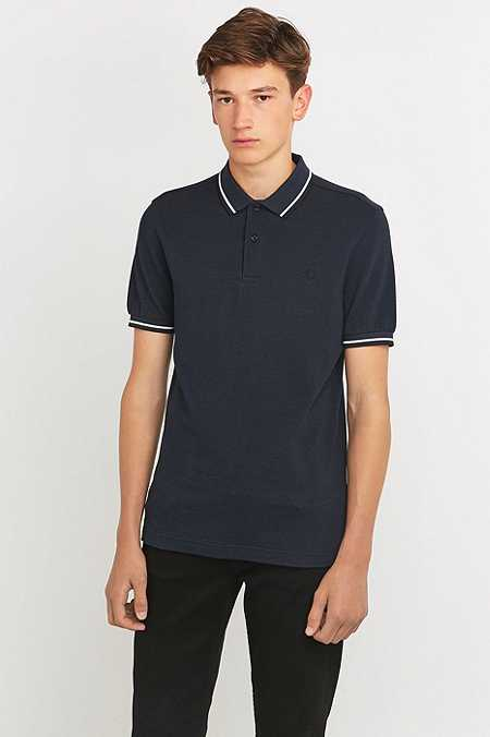 Fred Perry - Polo bleu marine à rayures doubles