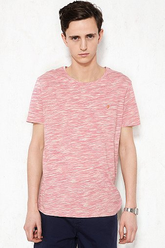 Farah Vintage Carson Space Tee in Pink