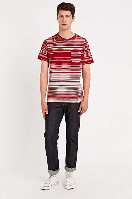 Shore Leave by Urban Outfitters - T-shirt Simpson rouge à rayures