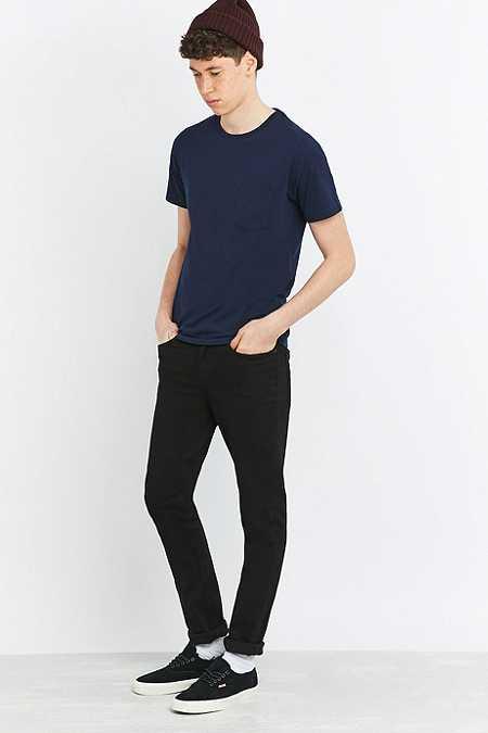 Commodity Stock - T-shirt basique avec une poche bleu marine