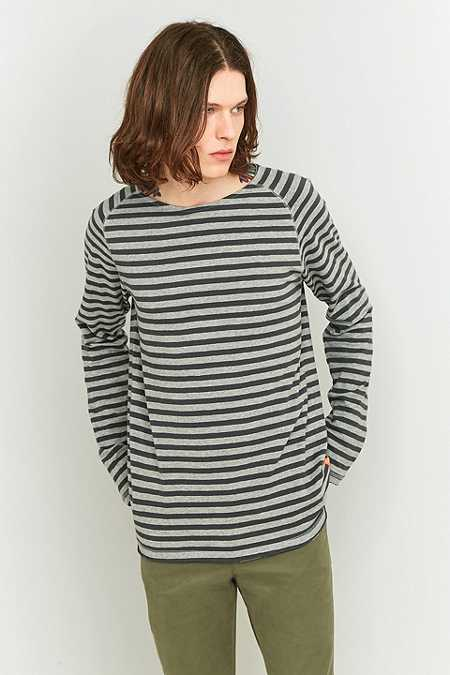 Nudie Jeans - T-shirt Otto Lummer rayé à bords brut