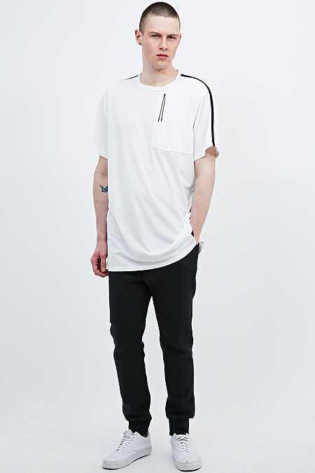 MHI by Maharishi - T-shirt mi-ample frais en voile blanc
