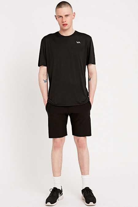 RVCA - T-shirt Virus à manches courtes en tissu technique noir