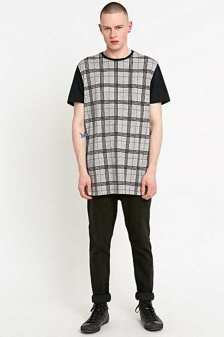 Zanerobe - T-shirt Tall écossais gris