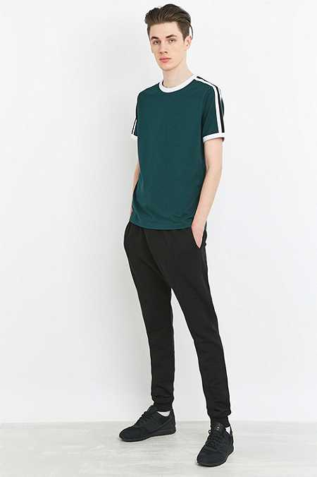 Shore Leave by Urban Outfitters Green Ted Tape Ringer Tee