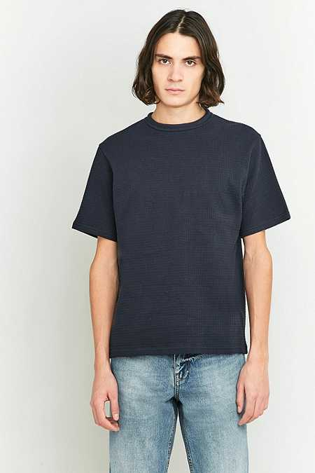 Shore Leave by Urban Outfitters Brayden Navy Waffle T-shirt