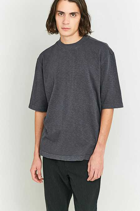 Shore Leave by Urban Outfitters Black Slub High Neck T-shirt