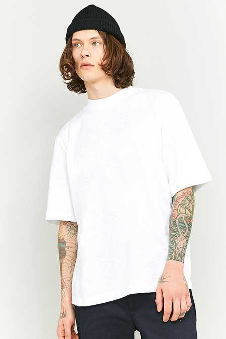 Shore Leave by Urban Outfitters White Slub High Neck T-shirt