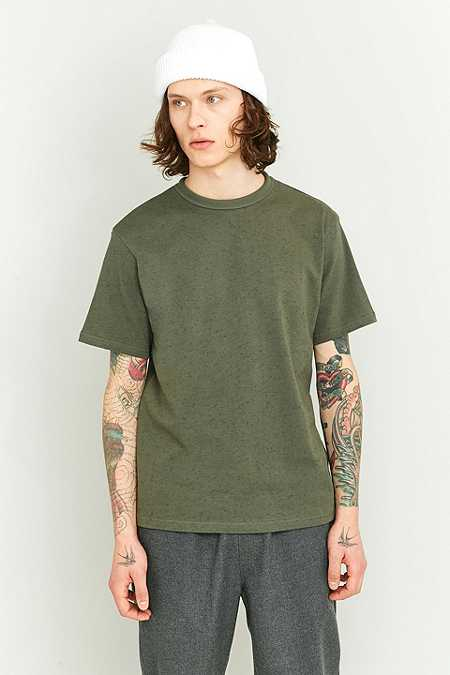 Shore Leave by Urban Outfitters Brayden Khaki Ringer T-shirt