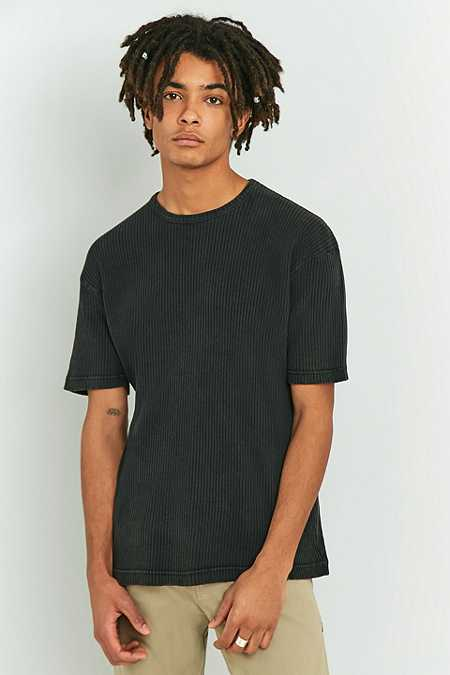 Shore Leave by Urban Outfitters Washed Black Rib T-shirt