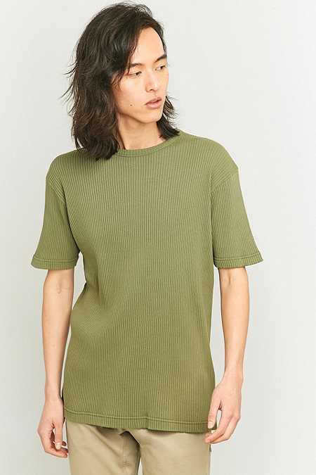 Shore Leave by Urban Outfitters Khaki Rib T-shirt