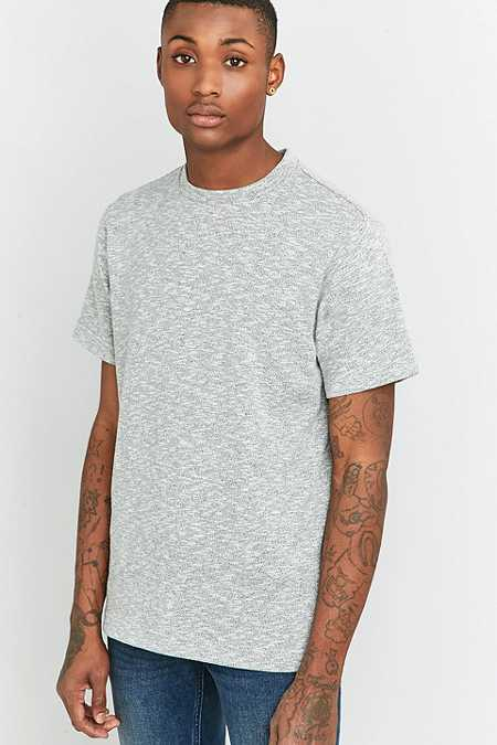 Shore Leave by Urban Outfitters Grey Textured Slub T-shirt