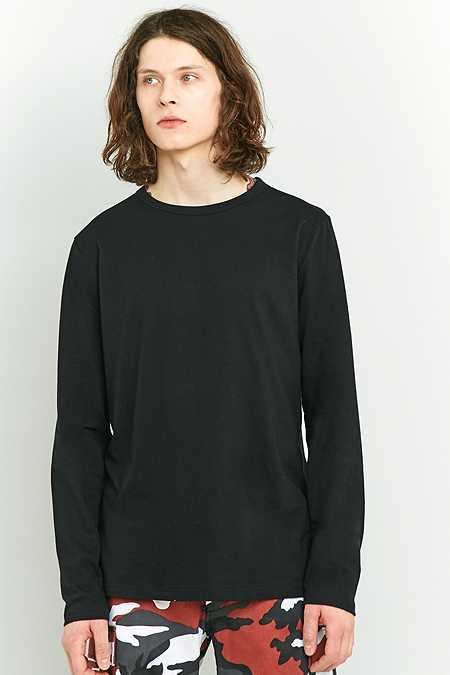 UO - T-shirt ras du cou à manches longues noir