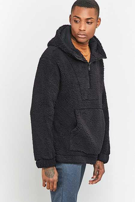 Shore Leave by Urban Outfitters - Sweat à capuche en polaire noir