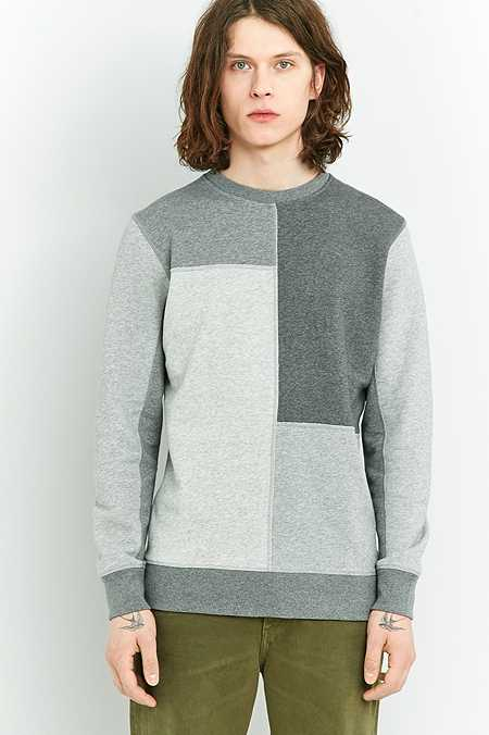 Shore Leave by Urban Outfitters - Sweat patchwork gris