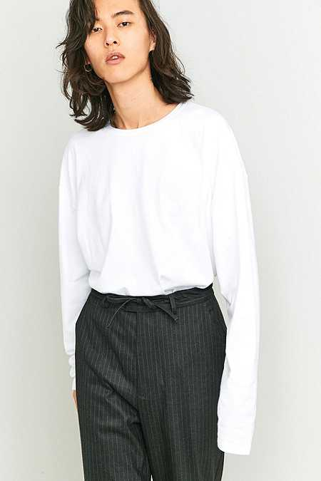 Loom White Tuck-In Long-Sleeve T-shirt