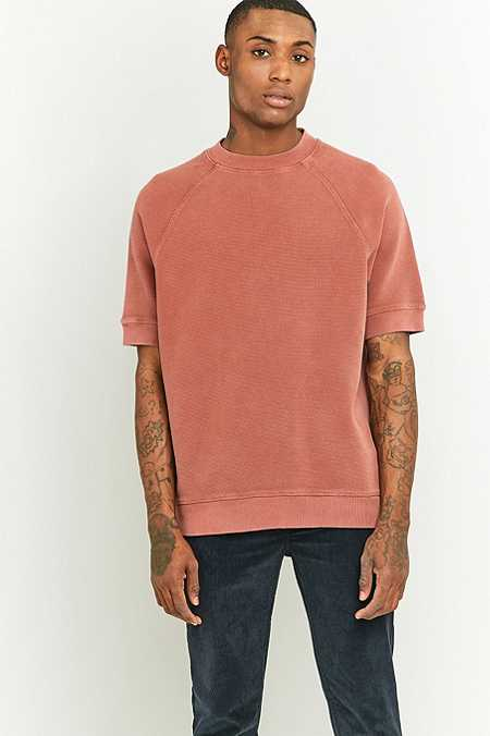 Shore Leave by Urban Outfitters Wicks Short Sleeve Pink Waffle T-shirt