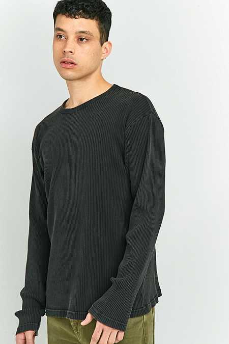 Shore Leave by Urban Outfitters - T-shirt côtelé à manches longues noir