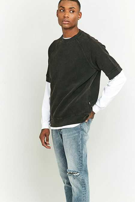 Shore Leave by Urban Outfitters Wicks Short Sleeve Black Waffle T-shirt